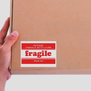 150 Red and White Fragile Large